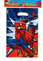 Пакеты детские (10 штук) Человек паук
