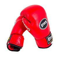 Боксерские перчатки Кожа Ring BWS 12 OZ красные 8 унций, красный синий
