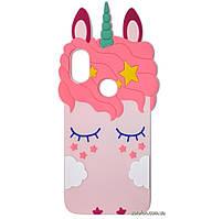 Чехол-накладка TPU 3D Little Unicorn для Xiaomi Mi A2 / Mi 6X Pink
