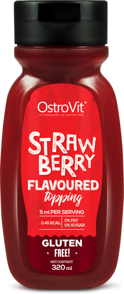 Фитнес джем OstroVit Sauce Strawberry Smooth 320 Мл клубника