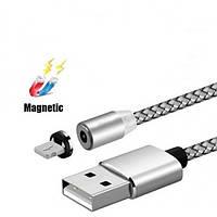 Магнитный шнур Data кабель для зарядки USB - micro USB на магнитах круглый под Андроид
