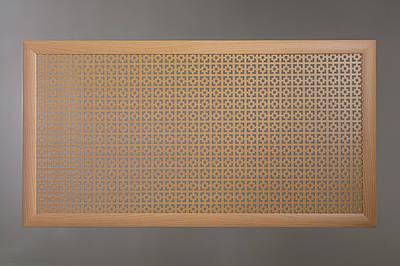 "Решетка для батареи ""Бюджет"", 60 см х 60 см, цвет бук Эфес"