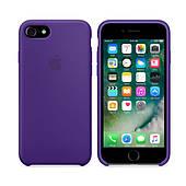 Чехол для iPhone 7/8 Silicone Case (Лучшая копия Apple) - фиолетовый