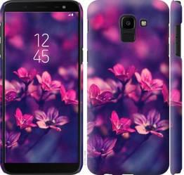 "Чехол на Galaxy J6 2018 Пурпурные цветы ""2719c-1486-328"""