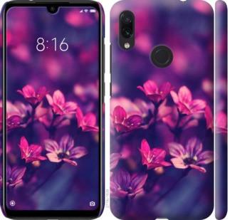 """Чехол на Redmi Note 7 Пурпурные цветы """"2719c-1639-328"""""""