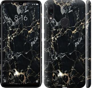 "Чехол на Redmi Note 7 Черный мрамор ""3846c-1639-328"""