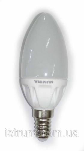 Лампа светодиодная 4,5W E14 (3000K, 4000K, 4500K) Ceramic 330lm 120* 220V, Numina