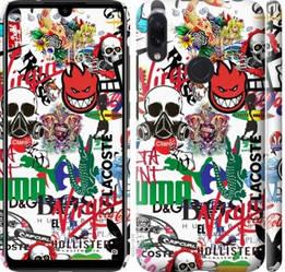 "Чехол на Redmi Note 7 Many different logos ""4022c-1639-328"""