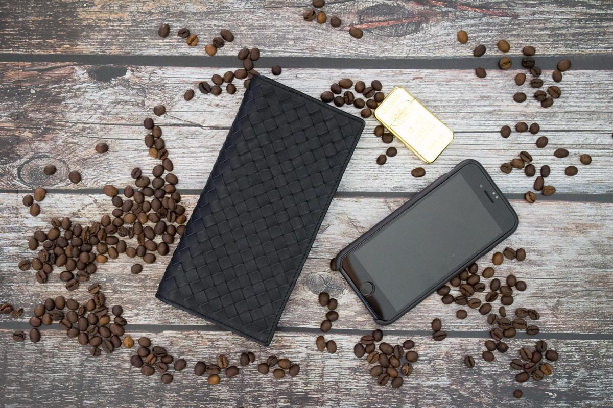 Портмоне Bottega Veneta из натуральной кожи / Купюрник, бумажник, портмоне