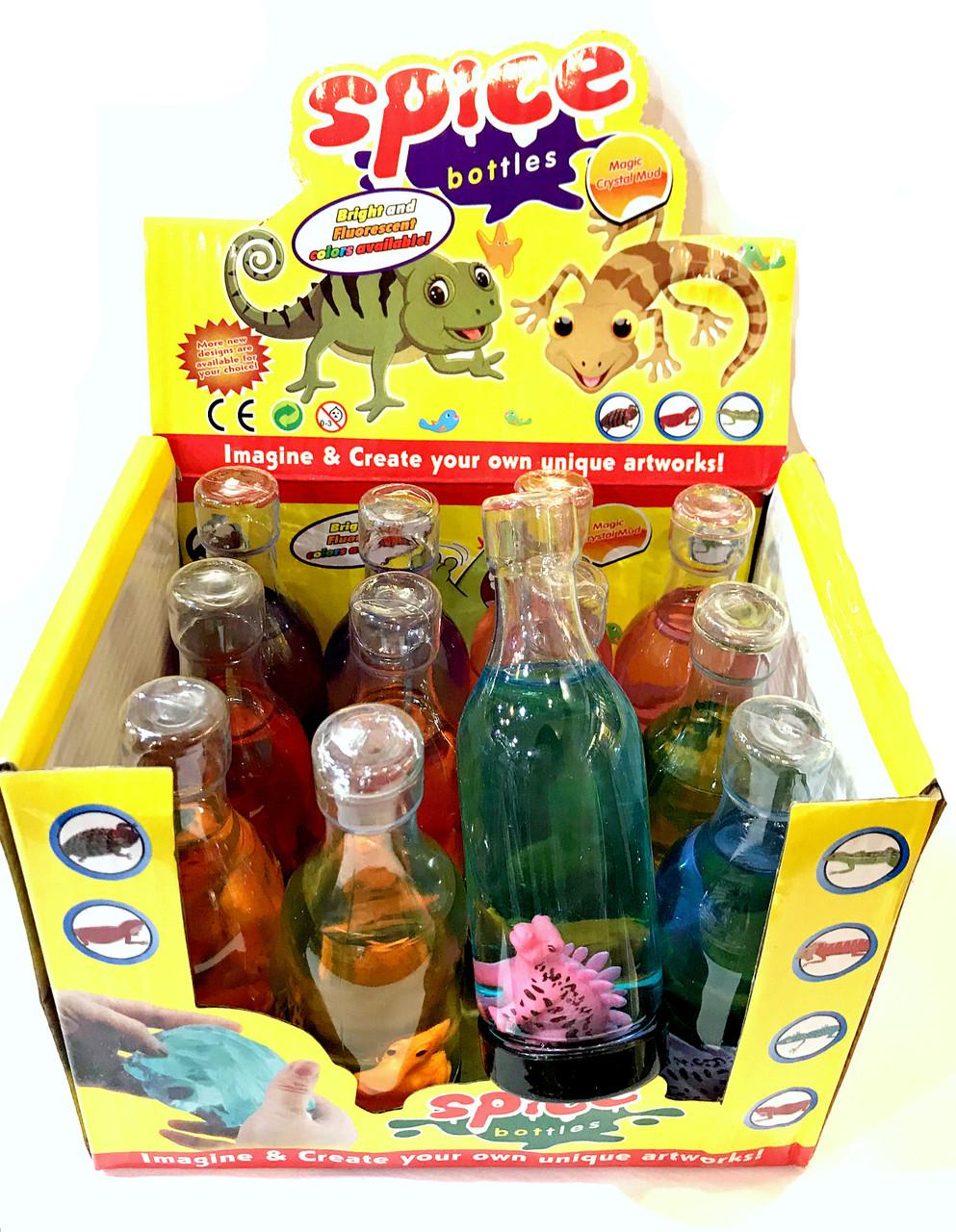 Жвачка , слайм в бутылке Динозавр