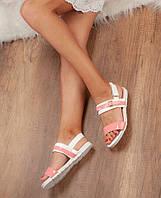 Босонжки жіночі на низькому ходу. рожево-білі