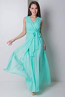 Платье длинное из шифона на запах