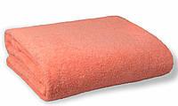 Простынь махровая, 150x200, цвет: персиковый