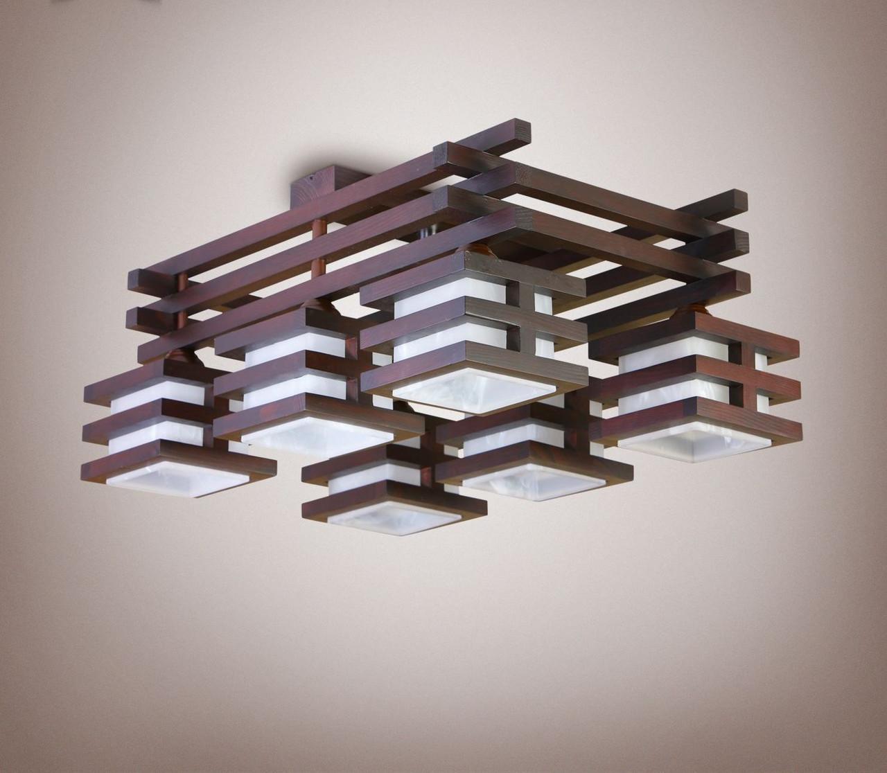 Люстра деревянная, спальня, кухня, зал, гостиная 14266