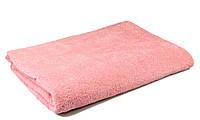 Простынь махровая, 150x200, цвет: розовый