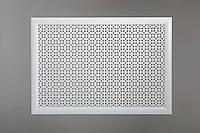 """Решетка для батареи """"Бюджет"""", 60 см х 90 см, цвет белый"""