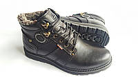 Мужские кожаные зимние ботинки Kristan City Traffic Black 40