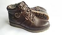 Мужские кожаные зимние ботинки Kristan City Traffic Brown 40