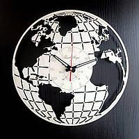 Настенные деревянные часы Shasheltoys Глобус Диаметр 35 см (090104)
