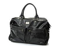 Мужская дорожная стильная сумка David Jones (355) черная