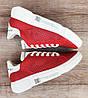 Детские, подростковые кроссовки RoadStyle Red/White ПЕРФОРАЦИЯ Натуральная кожа (Реплика ААА), фото 4