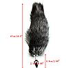 Анальная пробка металлическая Лисий хвост, фото 3