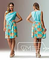 Короткое яркое батальное платье