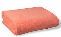 Простынь махровая, 180x200, цвет: персиковый