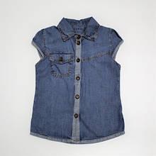 Сорочка джинсова для дівчинки