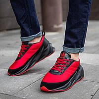 Кросівки Adidas червоні з чорними вставками кроссовки