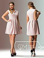 Короткое батальное платье французский трикотаж