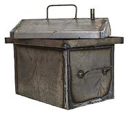 Коптильня средняя 400х300х350 металл 1.5мм, крышка домиком