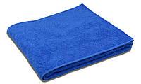 Простынь махровая, 180x200, цвет: темно-синий
