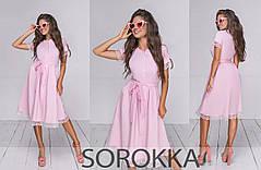 Летнее красивое платье-халат  с отделкой дорогим кружевом в 3-х расцветках 42-46, фото 2