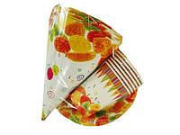 """Одноразовый набор бумажной посуды №1/19 """"Мармелад!"""" 6шт (1 пач)заходи на сайт Уманьпак"""