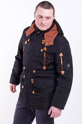 Мужскую куртку парку от производителя    50, 52, 54  черный