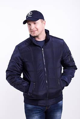 Демисезонная мужская куртка  большого размера   48-70 синий
