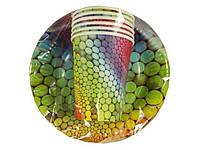 """Комплект одноразовой бумажной посуды №3/19 """"Радуга"""" (1 пач)заходи на сайт Уманьпак"""