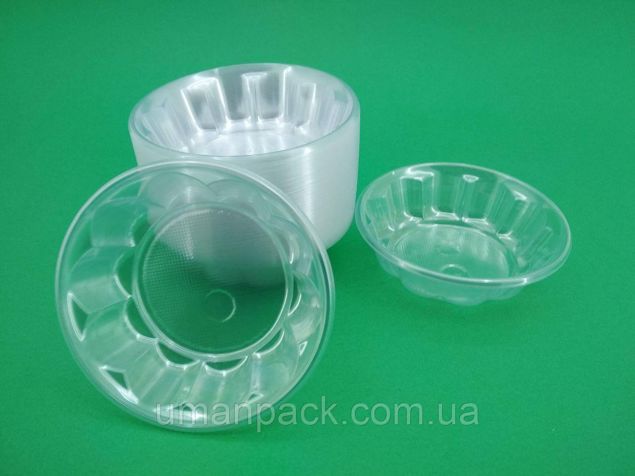 Одноразовая креманка пластиковая прозрачная (100 шт)заходи на сайт Уманьпак