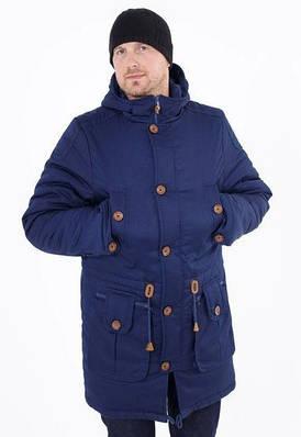 Зимняя куртка парка мужская молодежная   от производителя 44-54 синий