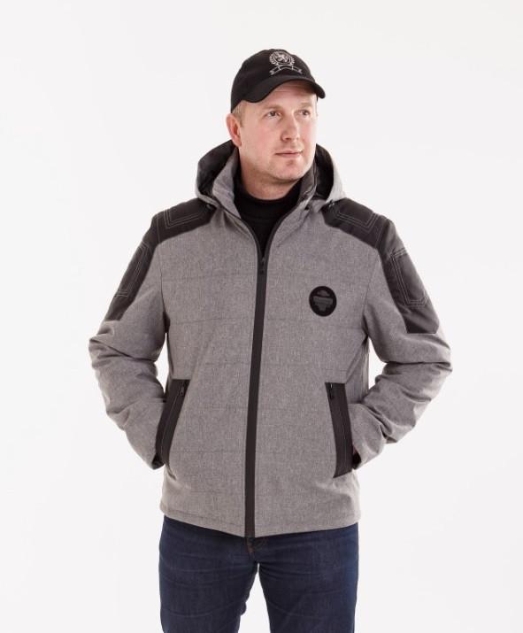 Демисезонная мужская куртка  удлиненная  48-58 серая