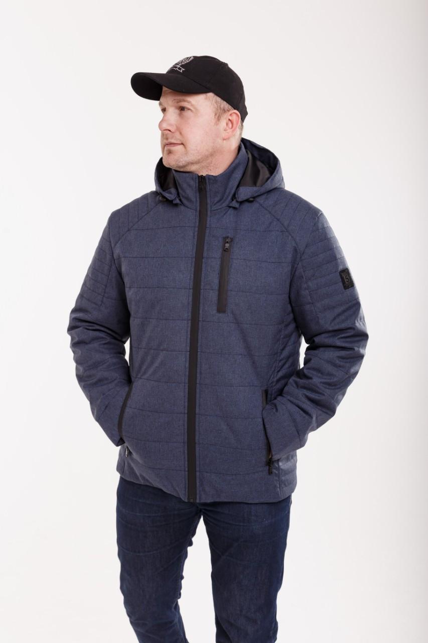 Куртки демисезонные мужские удлиненные  48-58 синий