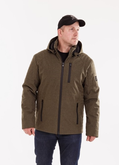 Демисезонная мужская куртка  с капюшоном  48-58 хаки