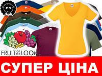 Футболка V-вирез Fruit of the Loom XSSMLXLXXL 398