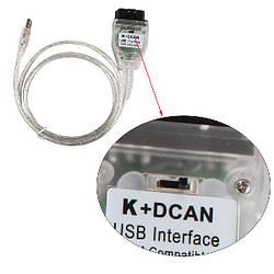 Адаптер диагностический BMW K+DCAN INPA с переключателем