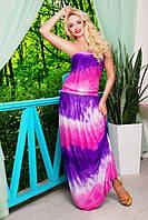 Летний сарафан в пол Соната фиолет 42-50 размеры