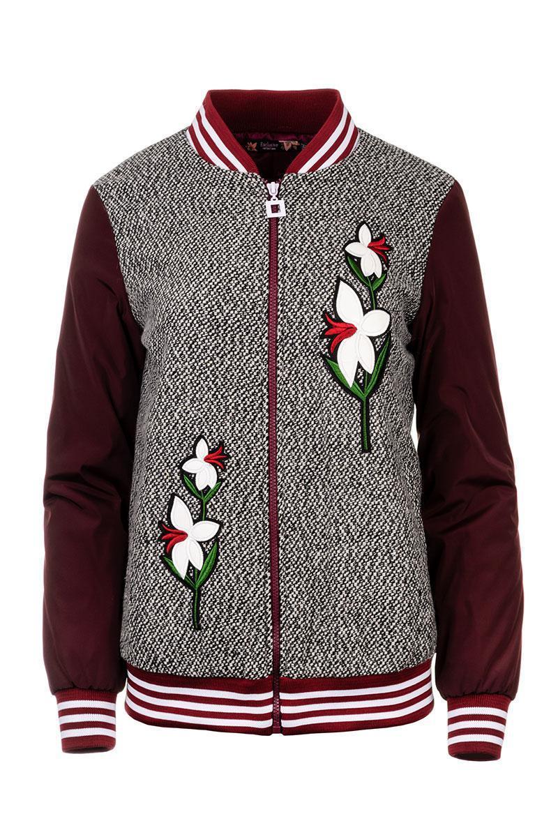 Демисезонная молодежная  женская куртка бомбер 42-48