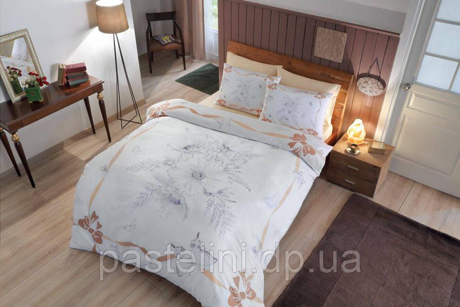 TAC Евро комплект постельного белья мако сатин Natalie gold