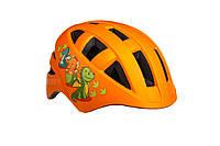 Велосипедный шлем ONRIDE Bud оранжевый с динозаврами M (54-57 см)