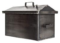 Коптильня большая с гидрозатвором 510х300х280 металл 1.5мм, крышка домиком